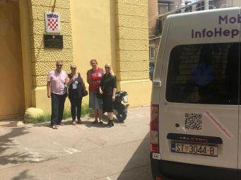 Mobilni InfoHep Centar pružao usluge u Zatvoru u Šibeniku